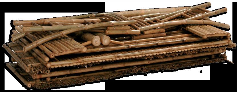 bambusbar sammenklappet