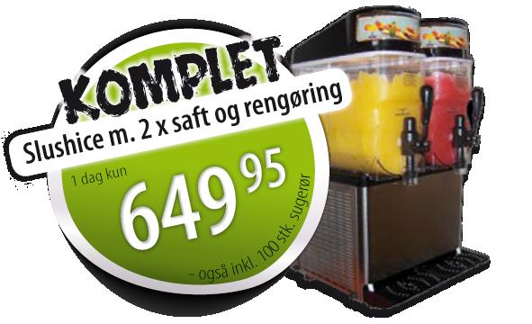 slushice komplet udlejning 123fest.dk