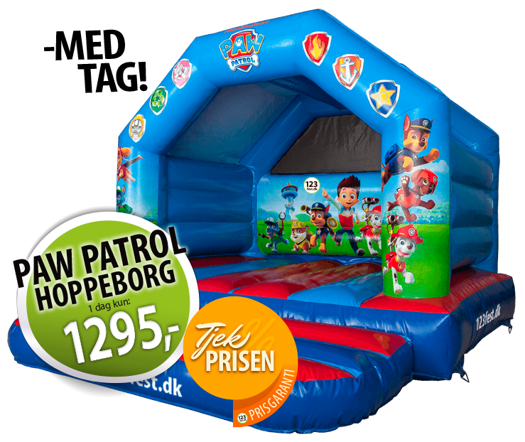 Paw Patrol hoppeborg udlejning pris garanti