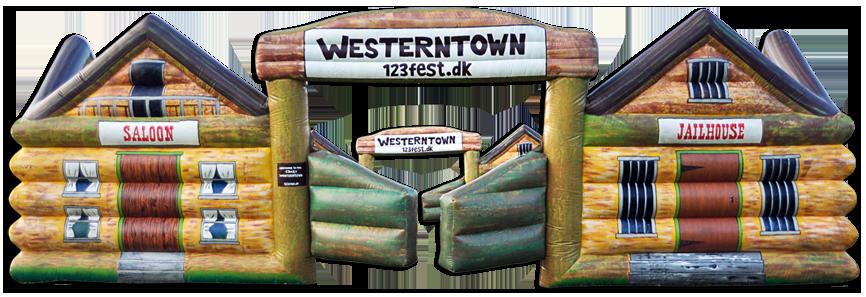 Western-Town - oppustelig western by